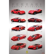 Ace Framing Ferrari Dream Machines Framed Poster, 36 x 24