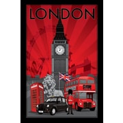 "Ace Framing ""London England"" Framed Poster, 36"" x 24"""