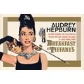 Ace Framing in.Audrey Hepburn Breakfast at Tiffany's Goldin. Framed Poster, 24in. x 36in.