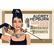 Ace Framing Audrey Hepburn Breakfast at Tiffany's Gold Framed Poster, 24 x 36