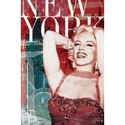Ace Framing BoH Marilyn Monroe New York Red Framed Poster, 36 x 24