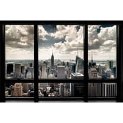 Ace Framing New York Window Framed Poster, 24 x 36