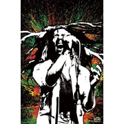 Ace Framing Bob Marley Paint Splash Framed Poster, 36 x 24