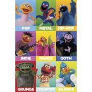 Ace Framing Sesame Street Music Genres Framed Poster, 36 x 24