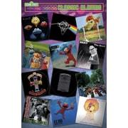Ace Framing Sesame Street Classic Albums Framed Poster, 36 x 24