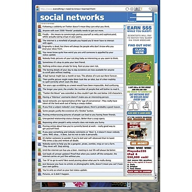 """Ace Framing """"Social Network Everything I Need To Know"""" Framed Poster, 36″"" x 24″"""""