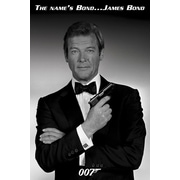 Ace Framing James Bond Roger Moore Framed Poster, 36 x 24