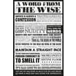 Ace Framing in.A Word From The Wisein. Framed Poster, 36in. x 24in.