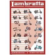 "Ace Framing ""Lambretta Scooter Evolution"" Framed Poster, 36"" x 24"""