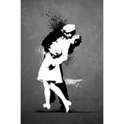 "Ace Framing ""War's End Kiss Graffiti"" Framed Poster, 36"" x 24"""