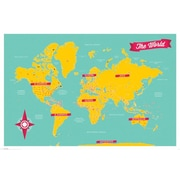 Pyramid America™ The World Map Poster