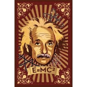 Ace Framing Einstein Mural E=MC2 Framed Poster, 36 x 24