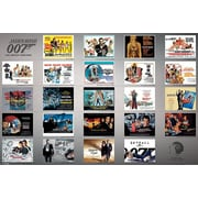 "Ace Framing ""James Bond 23 Movie Posters"" Framed Poster, 24"" x 36"""