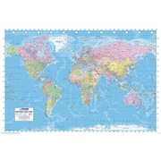 """Pyramid America™ """"World Map Continents"""" Poster"""