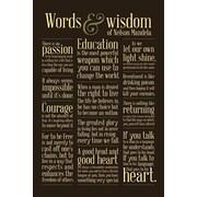 Ace Framing Nelson Mandela Words Of Wisdom Framed Poster, 36 x 24