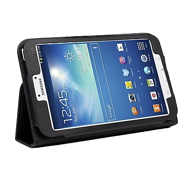 Mgear Accessories 935874 Synthetic Leather Double Fold case for Samsung Galaxy Tab 3 Tablet, Black