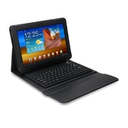 "Mgear Accessories 93587654M PU leather Bluetooth Keyboard Folio Case for 10.1"" Samsung Galaxy Tab Tablet, Black"
