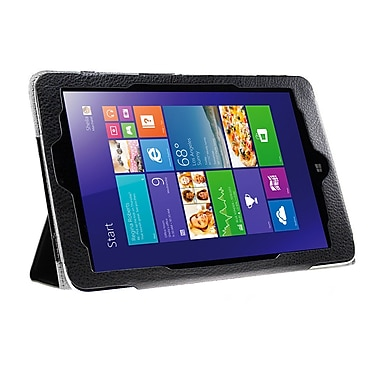 Mgear Accessories 93587200M PU Leather Tri Fold Folio Case for Lenovo Miix 2 Tablet, Black