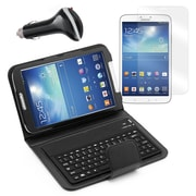 Mgear Accessories Samsung Galaxy Tab 3 Bluetooth Keyboard Folio with Screen Protector & Car Charger