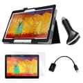 Mgear Accessories Samsung Galaxy Note 2014 Folio Case Screen Protector, OTG Cable & Car Charger