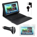 Mgear Accessories Bluetooth Keyboard Folio with Earphones, and More for Samsung Galaxy Note