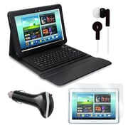 Mgear Accessories Bluetooth Keyboard Folio with Earphones, and More for Samsung Galaxy Note, 10.1