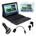 Mgear Accessories Samsung Galaxy Note Bluetooth Keyboard Folio with Earphones & more, 10.1in.