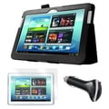 Mgear Accessories Folio Case with Screen Protector & Car Charger, Samsung Galaxy Note 10.1in. Tablet