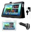 Mgear Accessories Samsung Galaxy Note 10.1in. Folio Case, Earphones, Screen Protector & Car Charger