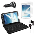 Mgear Accessories Bluetooth Keyboard Folio with Earphones, and More for Samsung Galaxy Note, 8in.