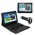 Mgear Accessories Bluetooth Keyboard Folio , Screen Protector & Car Charger for Galaxy Tab 2