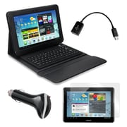 "Mgear Accessories 93587977M PU Leather Keyboard Folio Case for 10.1"" Samsung Galaxy Tab 2 Tablet, Black"