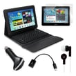 Mgear Accessories Bluetooth Keyboard Folio with Earphones and More for Samsung Galaxy Tab 2, 10.1in.