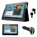 Mgear Accessories Folio Case with Earphones, Screen Protector, and Car Charger for Galaxy Tab