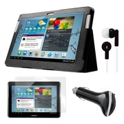 """Mgear Accessories 93587980M Synthetic Leather Folio Case for 10.1"""" Samsung Galaxy Tab 2 Tablet, Black"""