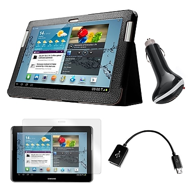 Mgear Accessories Folio Case, Screen Protector with OTG Cable & Car Charger