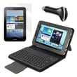 Mgear Accessories Bluetooth Keyboard Folio , Screen Protector & Car Charger for Galaxy Tab 2, 7in.