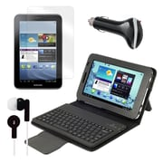 "Mgear Accessories 93587995M PU Leather Keyboard Folio Case for 7"" Samsung Galaxy Tab 2 Tablet, Black"