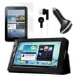Mgear Accessories Folio Case with Earphones, Screen Protector, and Car Charger for Galaxy Tab 7
