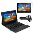 Mgear Accessories Samsung Galaxy Tab Bluetooth Keyboard Folio, Screen Protector & Car Charger