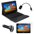 Mgear Accessories Bluetooth Keyboard Folio with Screen Protector, OTG Cable and Car Charger