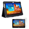 Mgear Accessories Black Double-Fold Folio Case with Screen Protector for Samsung Galaxy Tab 10.1in.