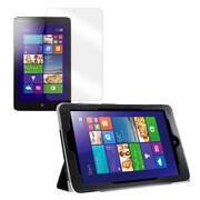 "Mgear Accessories 93587203M PU Leather Tri Fold Folio Case for 8"" Lenovo Miix 2 Tablet, Black"