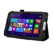 Mgear Accessories 93586283M Synthetic Leather Double Fold Folio Case for Acer Iconia W3 Tablet, Black