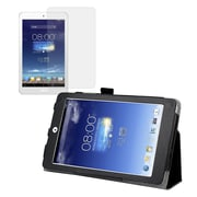"""Mgear Accessories 93586723M Synthetic Leather Double Fold Folio Case for 8"""" ASUS Memo Pad 8 Tablet, Black"""