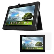 """Mgear Accessories 93586730M Synthetic Leather Double Fold Folio Case for 10"""" ASUS MeMO Pad Smart 10 Tablet, Black"""