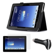 Mgear Accessories Black Folio Case with Screen Protector and Car Charger for ASUS MeMO Pad FHD 10