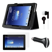 Mgear Accessories Folio Case with Screen Protector, Earphones & Car Charger ASUS MeMO Pad FHD 10