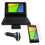 Mgear Accessories Bluetooth Keyboard Folio with Car Charger & More for Google Nexus 7 2nd Gen