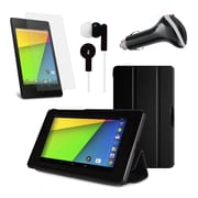 Mgear Accessories 93587765M Synthetic Leather Tri Fold Folio Case for Google Nexus 7 2nd Gen Tablet, Black